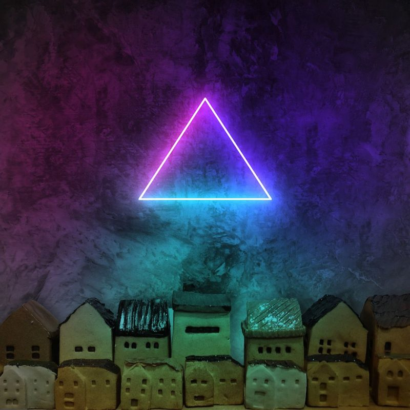 Equilateral Triangle Neon Sign